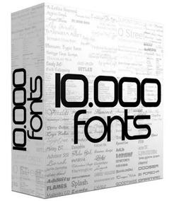 10mil Fontes Para Photoshop,coreldraw, Indesign, Illustrator