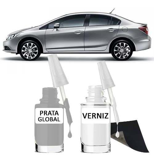 Tinta Tira Risco Automotivo Honda Civic Cor Prata Global