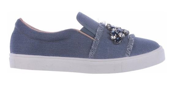 Tênis Náutico Jeans Blue - Zatz Calçados