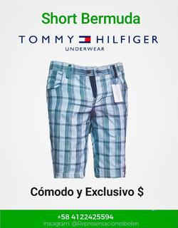 Shorts Bermudas Tommy Hilfiger, 3 Colores. Mayor Y Detal