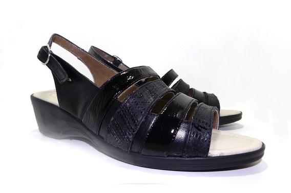 Sandalias De Cuero Dama Tiras - Calzados Unión Art 216