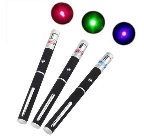 3 Canetas Laser Pointer 5mw Vermelho, Verde ,azul
