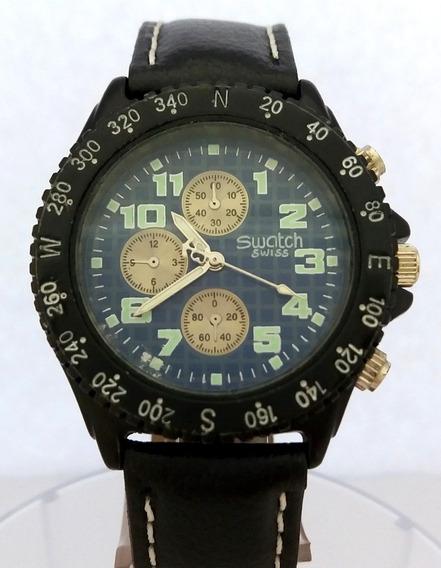 Relógio: Swatch Swiss Chronograph (blue Dial)