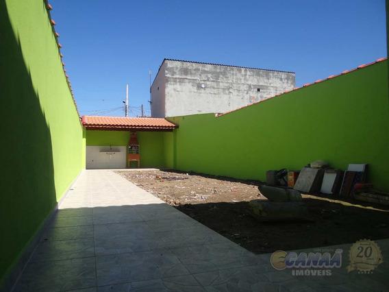 Casa Em Mongaguá Vila Atlântica Com Terreno Grande R$ 250 Mil V6912