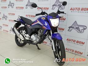 Honda Cg 160 Titan C/ Freio A Disco + Partida Elétrica