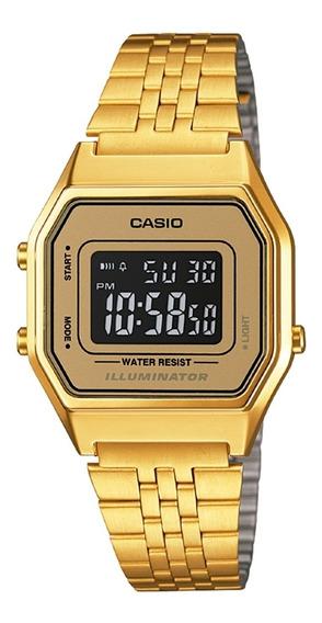 Relógio Feminino Dourado Digital Casio Vintage La680wga-9bdf
