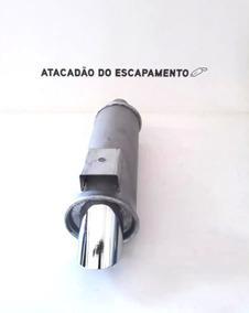 Abafador Turbo Esportivo Ponteira Cromada Gol G2 G3 G4 G5