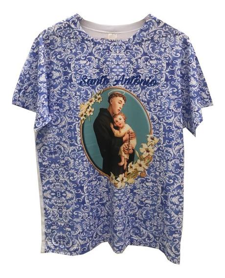 Roupa Camiseta Santo Antônio Blusa Religiosa Gospel