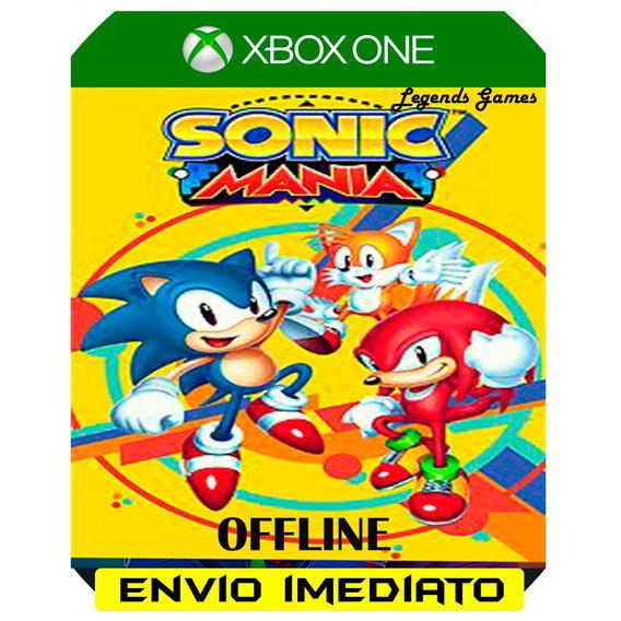 Sonic Mania Xbox One Midia Digital Envio Já