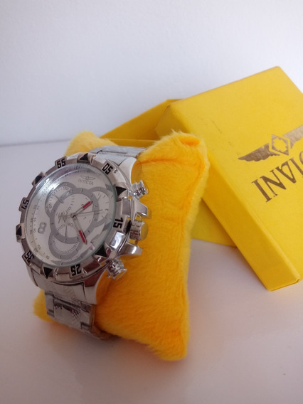 Relógio Masculino Prata Robusto Lindo + Caixa Personalizada