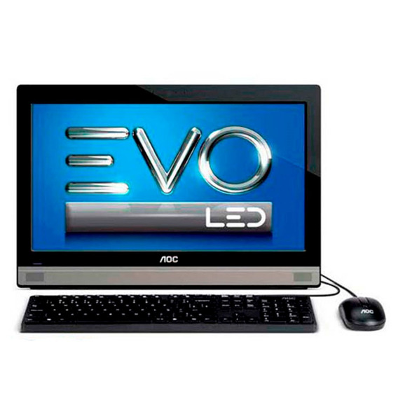 All In One Aoc Evo Preto Original Tela 19,5 2gb 500gb Win 8