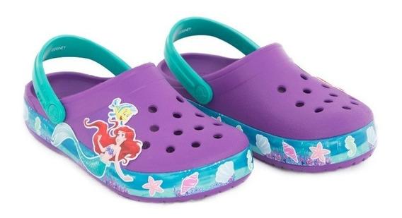 Crocs Original Fl K Princes Ariel Crocband Clog La Sirenita