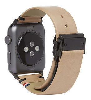 Correa De Cuero Para Apple Watch 42 Mm Color Arena Decoded