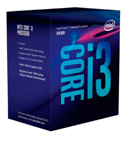 Imagen 1 de 6 de Procesador Intel Coffelake Core I3 9100f 3.6 Ghz S1151