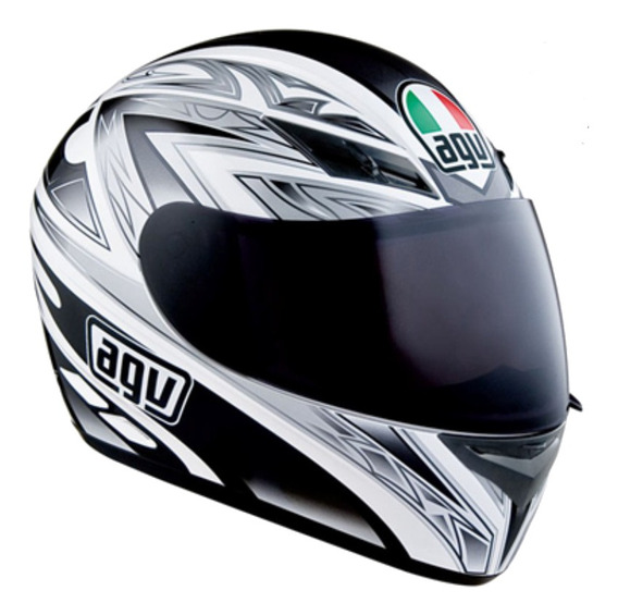 Casco Agv K-3 Basic One - White / Black - Monsa Group Cuotas