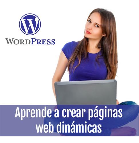 Curso De Word Press Crea Tu Página Web - Presencial Y Online