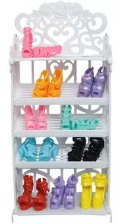 1 Armario Zapatero + 12 Zapatos Muñecas Barbie +envio Gratis