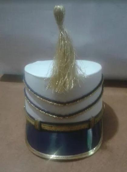 11 Bonetes Blancos Adorno Azul Con Dorado Envío Gratis