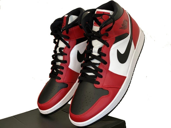 Zapatillas Nike Air Jordan 1 Mid Black Toe Talle Us 12,5 /46