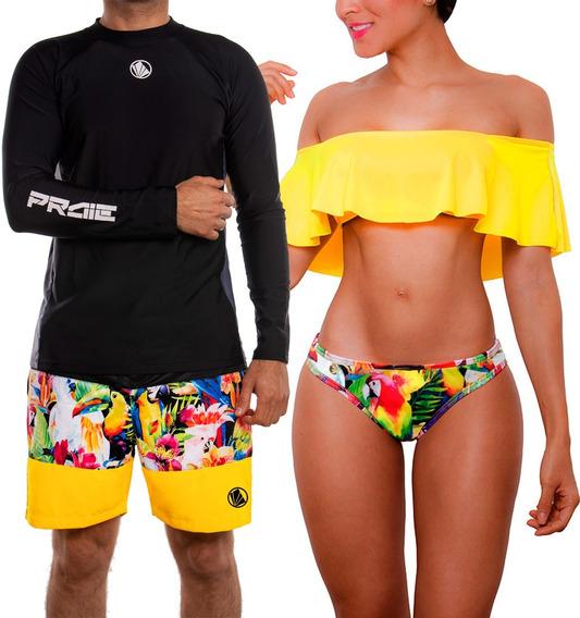 Vestidos De Baño Bikini Conjunto Para Parejas 1318 + 2129