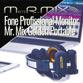 Fone Profissional Monitor Mr. Mix Golden Portable