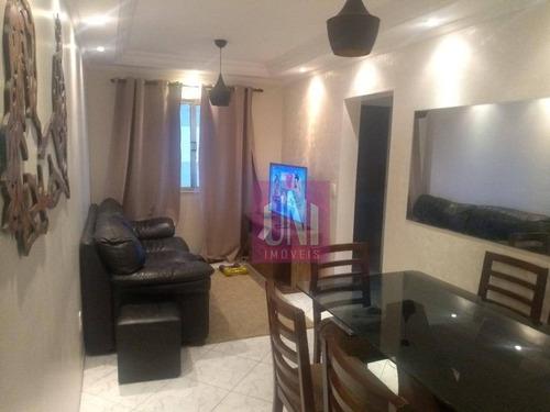 Apartamento Com 2 Dormitórios À Venda, 56 M² Por R$ 255.000 - Vila Valparaíso - Santo André/sp - Ap2138