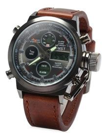 Reloj Hombre Militar Amst Original En Caja No Replica