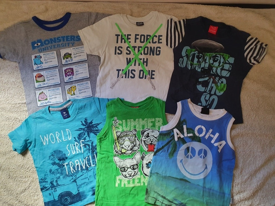 Lote 6 Remeras Talle 4 Disney Store Mimo Cheeky Grisino
