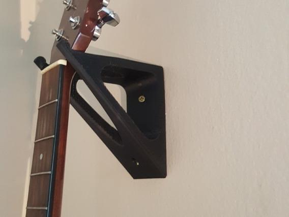 Suporte De Parede Trava Para Guitarra Baixo Violão Ukulele