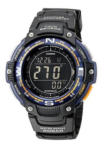 Reloj Digital De Cuarzo Negro Con Sensor Dual Sgw-100-2bcf D