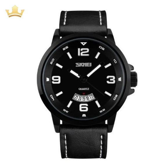 Relógio Masculino Curren Analógico 9115 - Preto Com Nf