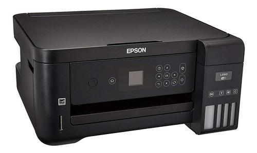 Impressora a cor multifuncional Epson EcoTank L4160 com wifi 110V preta