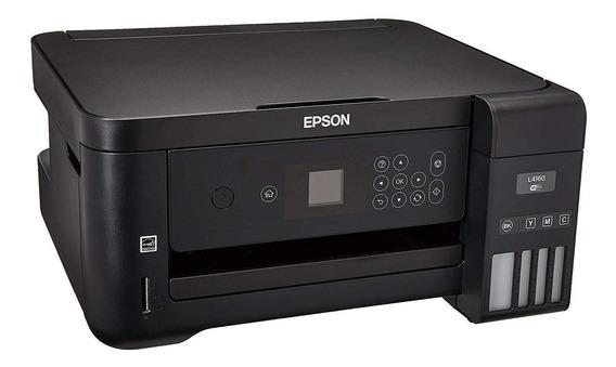 Impressora a cor multifuncional Epson EcoTank L4160 com Wi-Fi 110V preta