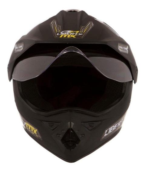 Capacete para moto cross Pro Tork Liberty MX Pro Vision preto-fosco L