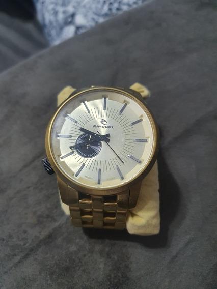 Relógio Ripcurl Detroit 50mm Dourado Original