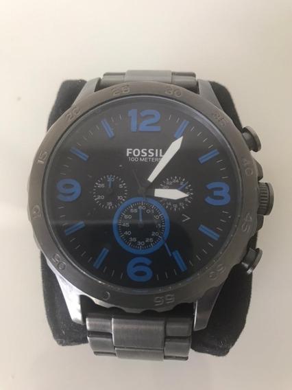 Relógio Masculino Fossil Fosco Jr1478 - Prata - 10 Atm