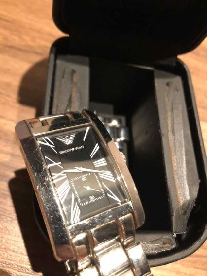 Relógio Emporio Armani Original Aço Inoxidável - Usado