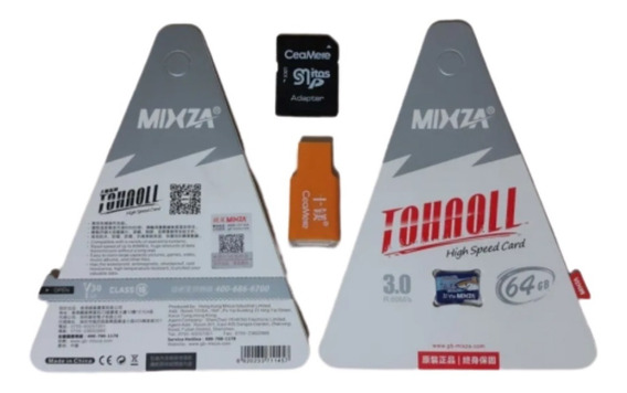 Cartão De Memória 64gb Classe 10 Tohaoll 80mb/s Mixza