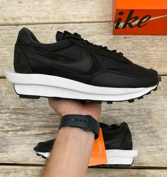 Tênis Nike Sacai Waffle Nylon Black Preto 41 Novo!