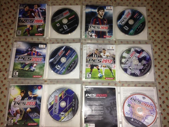 6 Jogos Pes Pro Evolution Soccer Ps3 Konami Mídia Física 195