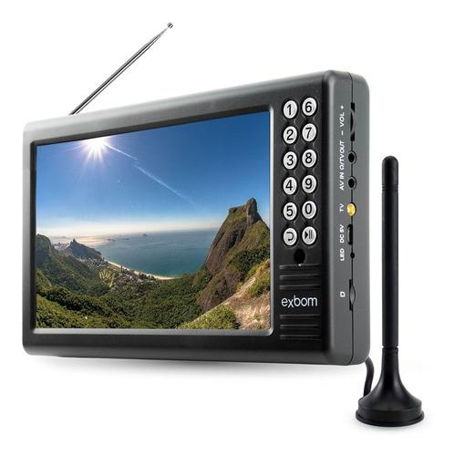 Tv 7 Polegadas Mini Tv Digital Portátil Com Antena Externa Rádio Fm E Entradas Usb E Micro Sd Para Reproduzir Vídeos