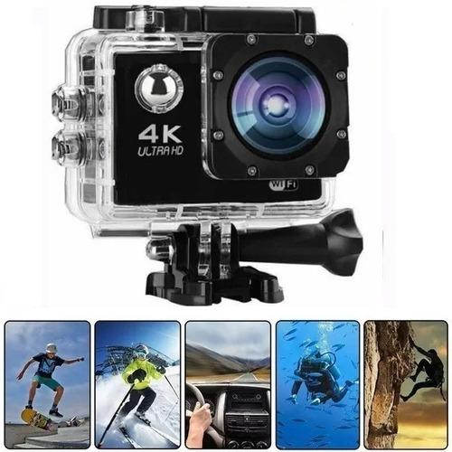 Imagem 1 de 7 de Mini Câmera Filmadora Sports 4k 1080p Prova D'agua Moto Bike