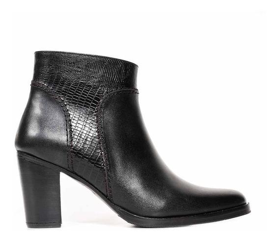 Bota Cuero Mujer Briganti Botineta Taco Zapato - Mcbo24871