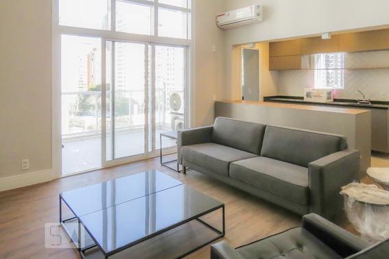 Apartamento No 10º Andar Mobiliado Com 1 Dormitório E 2 Garagens - Id: 892945752 - 245752