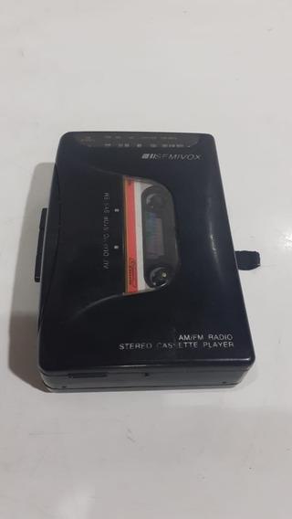 Walkman Rádio Am/fm Toca Fitas Semivox Stereo 3v Defeito