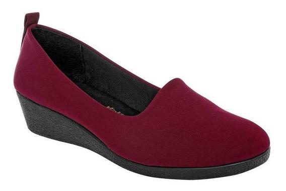 Zapato Padus Nub006 Mujer Talla 22-26 Color Vino Pk-oi19
