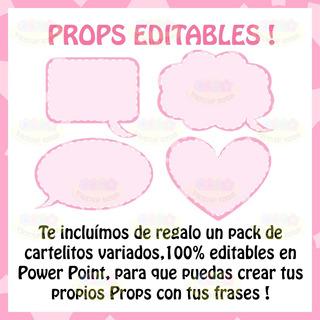 Photo Props Baby Shower Nena Cartelitos Fotos Imprimible