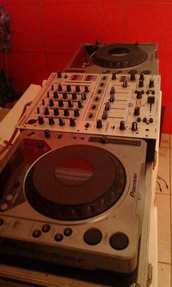 Cdj Pioneer 800 E Mixer Com Entrada P/ 4 Canais