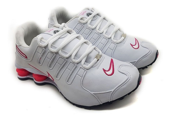 Tênis Feminino Nike Shox Nz 4 Molas Rose Original Treino