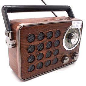 Radio Retro Designe Antigo Am,fm,usb,sd,auxiliar Recarregava